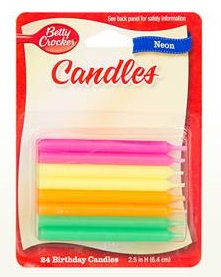 Betty Crocker™ Neon Birthday Candles