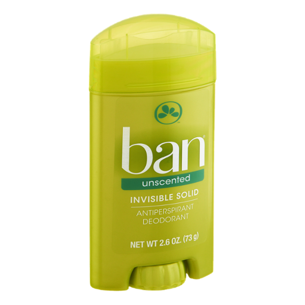 Ban Invisible Solid Unscented Antiperspirant Deodorant