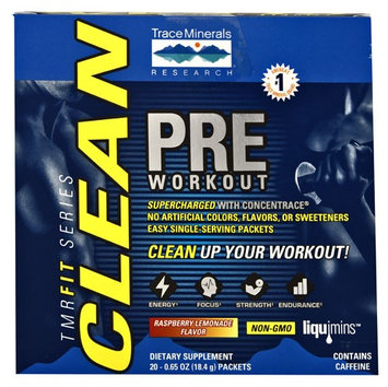 TMRFit Clean Series Pre Workout Trace Minerals 20 packets Box
