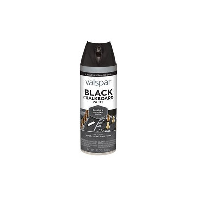 Valspar Brand 12 Oz Black Chalkboard Spray Paint 465-68007 SP