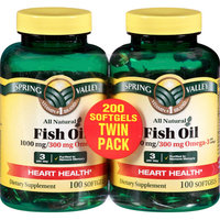Spring Valley Omega 3 Fish Oil Twin Pack