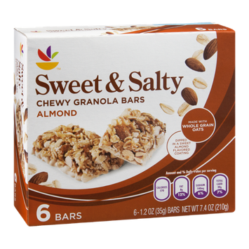 Ahold Sweet & Salty Granola Bars Chewy Almond - 6 CT