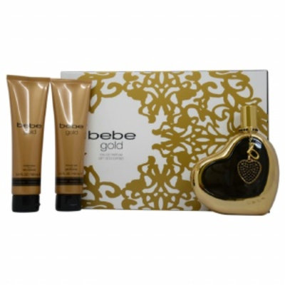 Bebe Gold Gift Set for Women, 4 Piece, 1 set