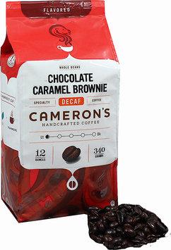 Cameron's Chocolate Caramel Brownie Decaf Whole Bean Coffee-12 oz-Whole