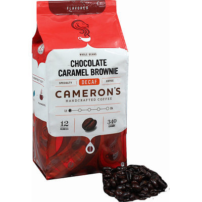 Cameron's Chocolate Caramel Brownie Decaf Whole Bean Coffee-12 oz-Whole