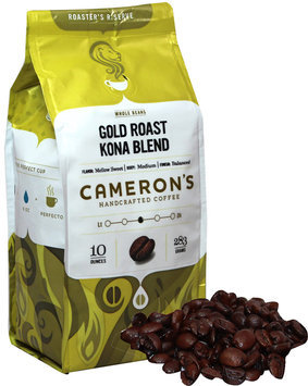 Cameron's Gold Roast Kona Blend Whole Bean Coffee-10 oz-Whole