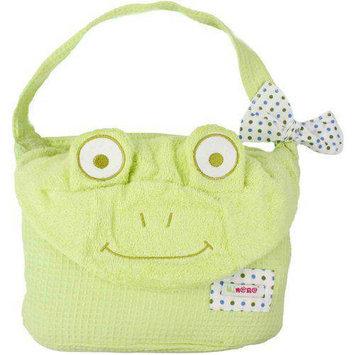 Minene Green Frog Cuddly Bath Towel for Baby