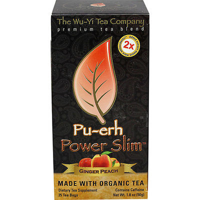 The Wu-Yi Tea Company Pu-erh Power Slim Ginger Peach - 25 Tea Bags