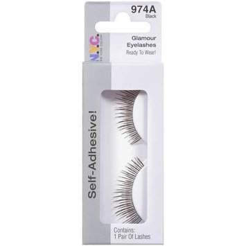 NYC New York Color N.Y.C. New York Color Self-Adhesive Glamour Eyelashes, Black 974A