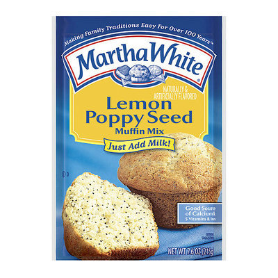 Martha White Muffin Mix Lemon Poppy Seed