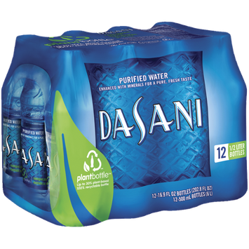 Dasani Purified .5 L Water 12 Pk