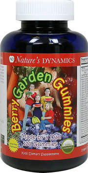 Natures Dynamics Nature's Dynamics - Berry Garden Gummies Whole Food Multivitamin Natural Cherry Flavor - 120 Gummies