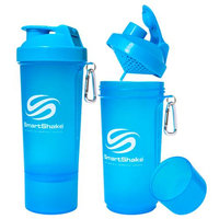 SmartShake Slim 17 oz. Shaker Bottle - Neon Blue