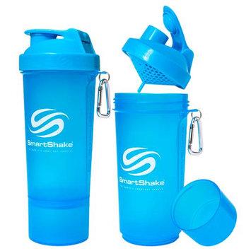 SmartShake Slim 17 oz. Shaker Bottle - Neon Blue