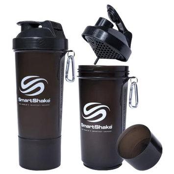 SmartShake Slim 17 oz. Shaker Bottle - Gunsmoke Black