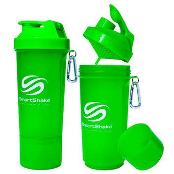SmartShake Slim 17 oz. Shaker Bottle - Neon Green