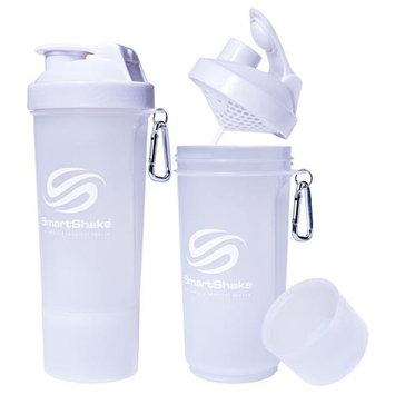 SmartShake Slim 17 oz. Shaker Bottle - Pure White