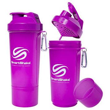 SmartShake Slim 17 oz. Shaker Bottle - Neon Purple