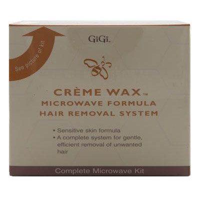 GiGi Creme Wax Microwave Formula Hair Removal System Kit