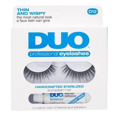 Ardell Duo Professional Eyelashes with Adhesive D12 Thin and Wispy
