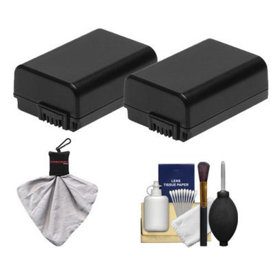 Power Sony Alpha Accessory Kit with 2 NP-FW50 Batteries + Cleaning Kit for NEX-3, NEX-5 & NEX-C3 Digital Cameras