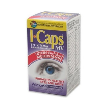 ALCON LABS ICaps Eye Vitamin Multivitamin and Mineral Supplement Tablets, 50 Count