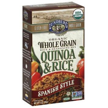 Lundberg Quinoa & Rice Spanish Style Organic Whole Grain Rice & Seasoning Mix, 6 oz, (Pack of 6)