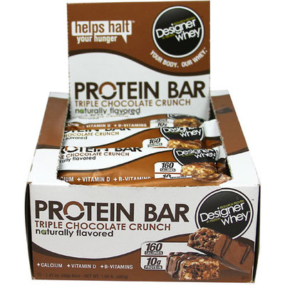 Designer Protein - Designer Whey Protein Bar Triple Chocolate Crunch - 1.41 oz. CLEARANCE PRICED