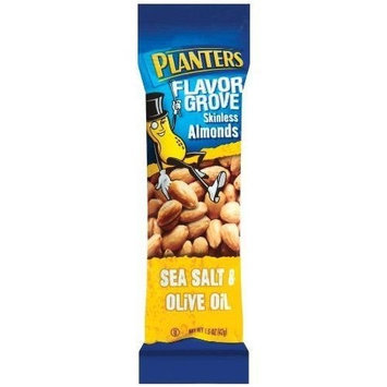 Planters Skinless Almonds With Sea Salt and Olive Oil 1.45 oz. Tube (Pack of 18)