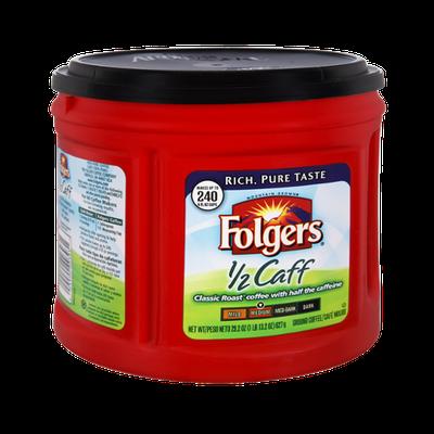 Folgers 1/2 Caff Medium Roast Ground Coffee