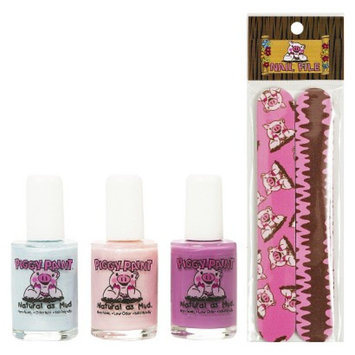 Rockhouse Industries, Inc Piggy Paint Non-Toxic Nail Polish with Nail File Set