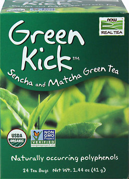 NOW Foods Real Tea Organic Green Kick - 24 Tea Bags