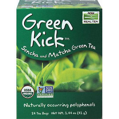 NOW Foods Real Tea Organic Green Kick - 24 Tea Bags