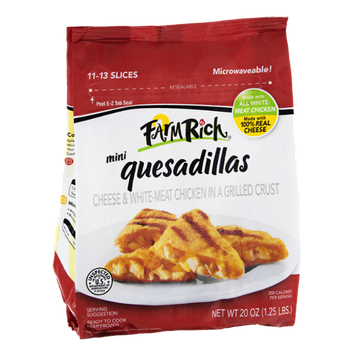 Farm Rich Mini Cheese & Chicken Quesadillas - 11 to 13 Slices
