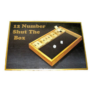 Shut The Box Game, 1 ea