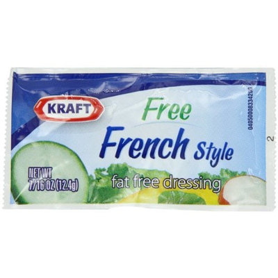 Kraft Foods Kraft Fat Free French Salad Dressing, 7/16 Ounce Single Serve Pouches (Pack of 200)
