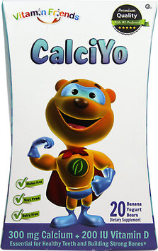 Natural Burst - Vixro CalciYo Calcium Yogurt Bears Banana Flavor - 40 Yogurt.