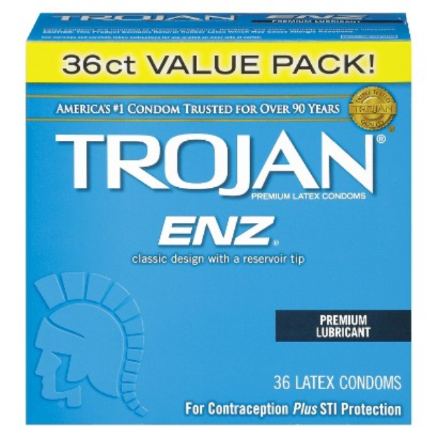 Trojan-Enz Lubricated Premium Latex Condoms - 36 Count