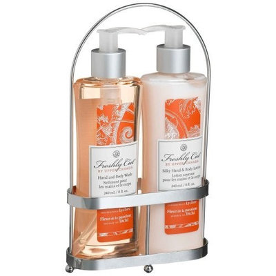 Upper Canada Soap   Candle Upper Canada Soap & Lotion Floral Caddy, Passion Flower & Lychee