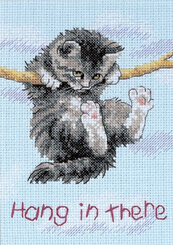 Other Dimensions Hang On Kitty Cross Stitch Kit