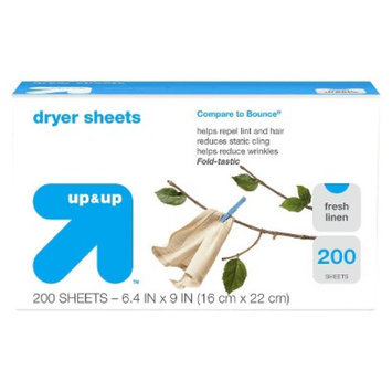 up & up Fresh Linen Scent Dryer Sheets 200 ct
