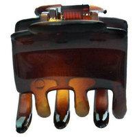 Caravan Pony Hair Claw Patent Tortoise Shell