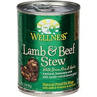 Wellness Lamb/Beef Stew Can Dog Food 12 Pack