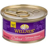 Wellness Can Cat Cubed Salmon 3 oz