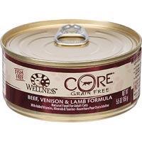 Wellness CORE Beef, Venison & Lamb Canned Cat Food, 5.5 oz.