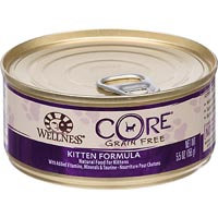 Wellness CORE Chicken, Turkey & Chicken Liver Canned Kitten Food, 5.5 oz.