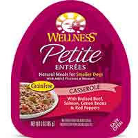 Wellness Petite Entrees Casserole Beef, Salmon, Green Beans & Red Peppers Dog Food, 3 oz. Case of 24