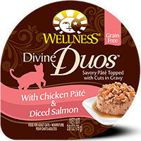 Wellpet Llc Wellpet OM09043 Divine Duos Chicken Pate & Diced Salmon 24-2.8 Oz.