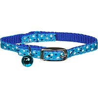 Coastal Pet Products Coastal Pet Li'l Pals Blue Dots Kitten Collar with Bell, Small