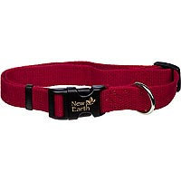 Coastal Pet New Earth Adjustable Personalized Soy Dog Collar in Cranberry